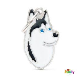 Médaille Friends Husky noir et blanc