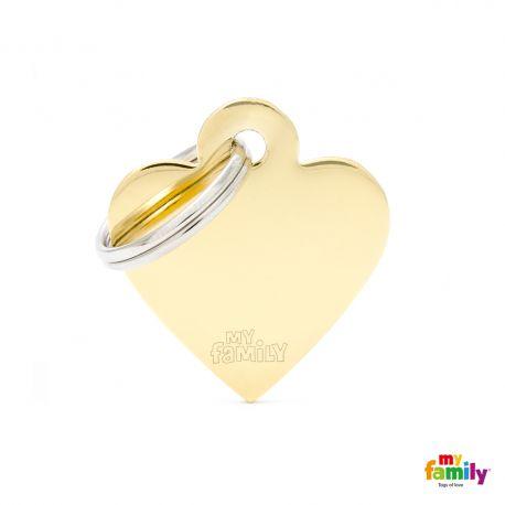 Médaille Basic petit coeur laiton doré