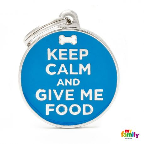 Médaille Charms Keep Calm Give Me Food
