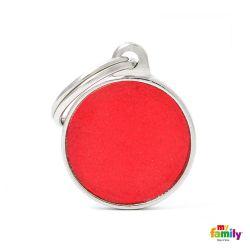 Médaille Reflective petit cercle rouge