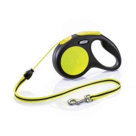 Laisse retractable Flexi New Neon Corde 5m