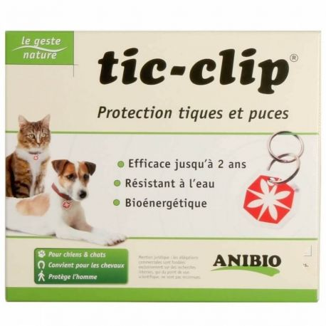 Medaille Tic-Clip pour chiens et chats
