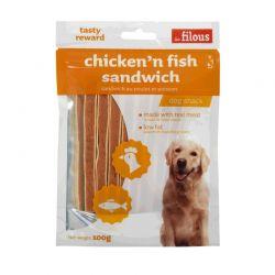 Friandises Chicken'n Fish sandwich 100g
