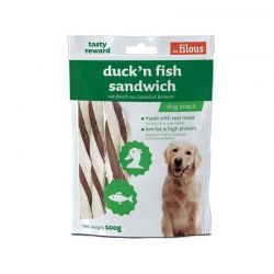 Friandises Duck'n Fish sandwich 100g