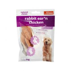 Friandises Rabbit Ear'n Chicken 80g