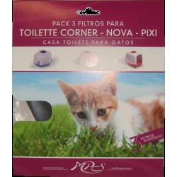 3 filtres pour PIXI - NOVA- CORNER