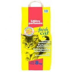 Litière parfumée Fresh Cat granulés 8kg