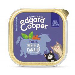 Barquette chat Boeuf et Canard 85g Edgar Cooper