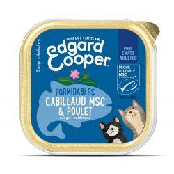 Barquette chat Poulet et Cabillaud 85g Edgar Cooper