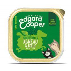 Barquette chat Agneau et Boeuf 85g Edgar Cooper