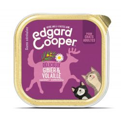 Barquette chat Gibier et Volaille 85g Edgar Cooper