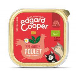 Barquette chat Poulet bio 85g Edgar Cooper