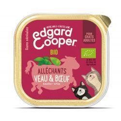 Barquette chat Veau et Boeuf bio 85g Edgar Cooper