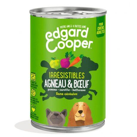 Boîte chien Agneau et Boeuf 400g Edgar Cooper