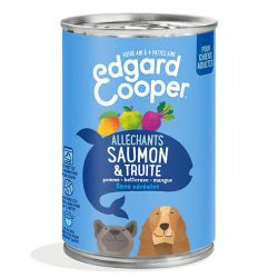 Boîte chien Saumon et Truite 400g Edgar Cooper
