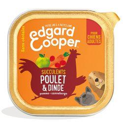 Barquette chien Poulet et Dinde 150g Edgar Cooper