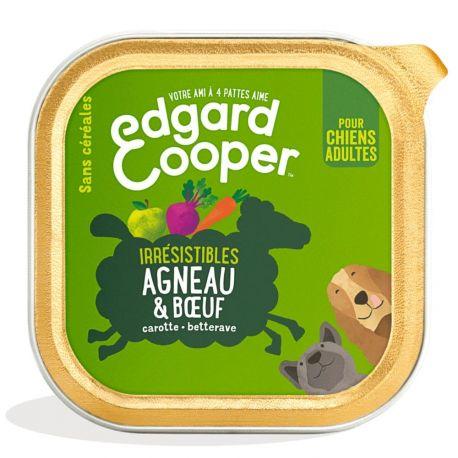 Barquette chien Agneau et Boeuf 150g Edgar Cooper