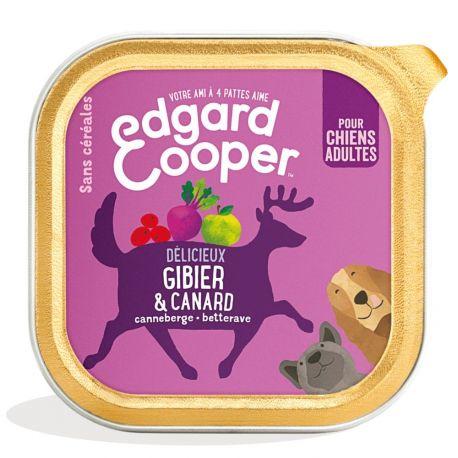 Barquette chien Gibier et Canard 150g Edgar Cooper