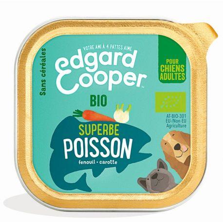 Barquette chien Poisson bio 100g Edgar Cooper