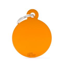 Médaille Basic grand cercle alu orange