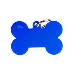 Médaille Basic grand os XL alu bleu
