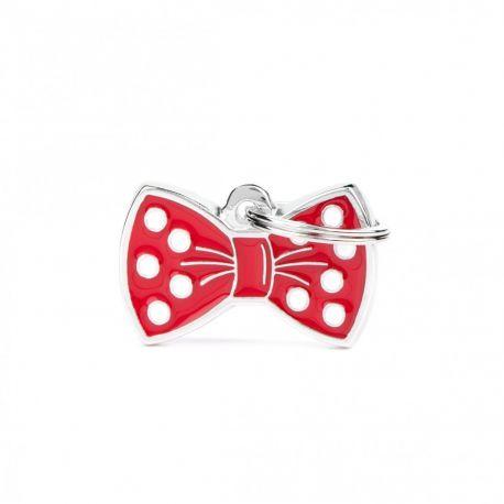 Médaille Charms Nœud papillon rouge
