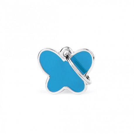 Médaille Charms Papillon bleu