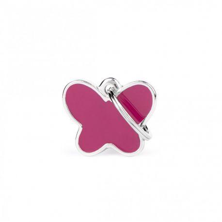 Médaille Charms Papillon rose