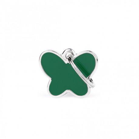 Médaille Charms Papillon vert