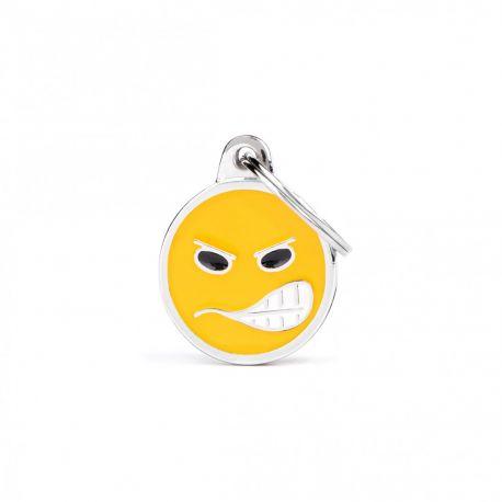 Médaille Charms Smiley grogne