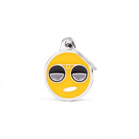 Médaille Charms Smiley lunette