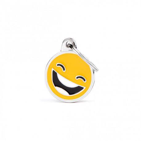 Médaille Charms Smiley rigole