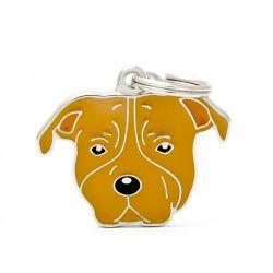 Médaille Friends American Staffordshire terrier marron