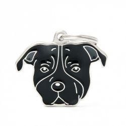 Médaille Friends American Staffordshire terrier noir