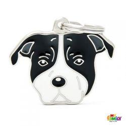 Médaille Friends American Staffordshire terrier noir et blanc