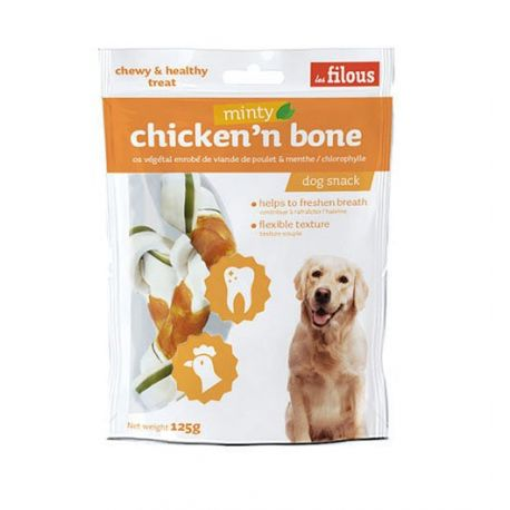 Friandise Chicken'N'Bone Minty 100g
