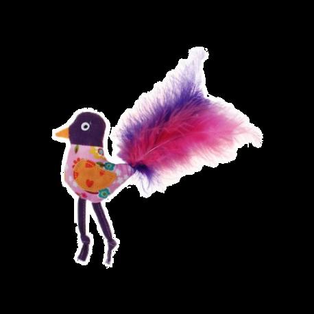 Oiseau avec plumes