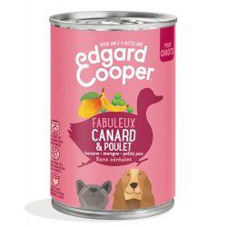 Boîte chiot Canard et Poulet 400g Edgar Cooper