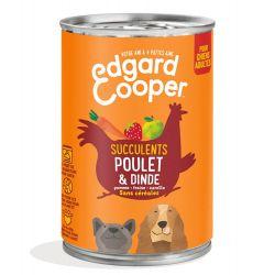 Boîte chien Poulet et Dinde 400g Edgar Cooper