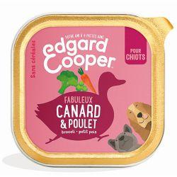 Barquette chiot Canard et Poulet 150g Edgar Cooper
