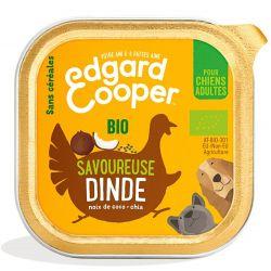 Barquette chien Dinde bio 100g Edgar Cooper