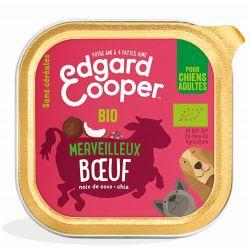 Barquette chien Boeuf bio 100g Edgar Cooper