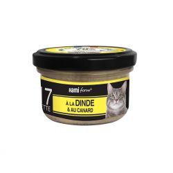 Cuisinés chats n°17 dinde et canard 80g