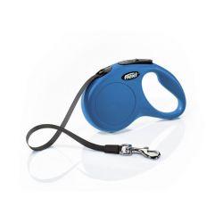 Laisse Flexi New Classic Sangle 3M Bleue