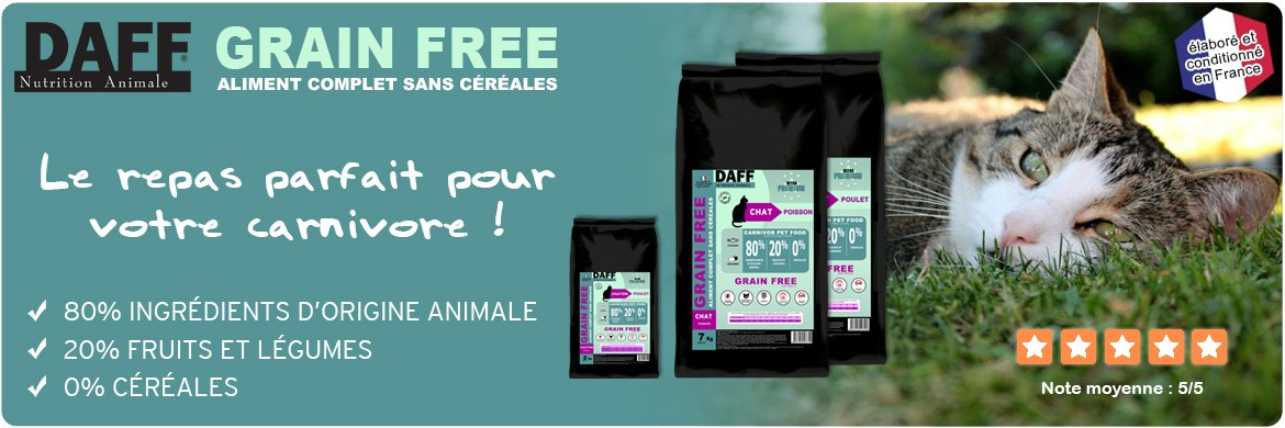 Croquettes pour chats DAFF Grain Free