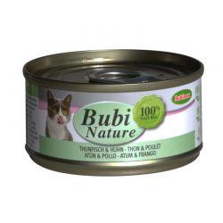 Bubi Nature chat thon et poulet 70g